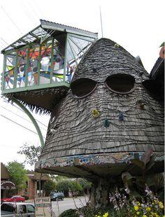 Side View of Mushroom House