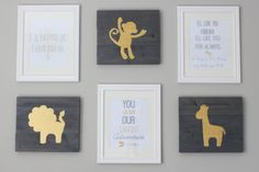 Check out this free printable nursery wall art! Three designs available for download at DIY on the Cheap.