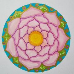 Mandala - Lucy H. Some of my mandala seeds are in the Moon Dreams Diary 2018 Mandala Drawing, Sacred Geometry, Seeds, Doodles, Moon, Dreams, Photo And Video, Drawings, Artist