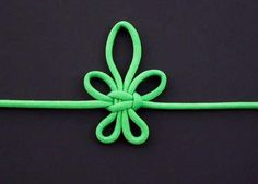 """Nido """"flor de lis"""" - How to make the Bourbon Lily Knot - Macrame - Makramee"""
