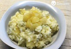 risotto de peras y gorgonzola