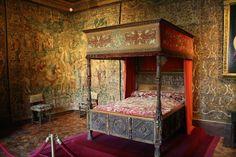Catherine de' Medici's bedroom at the Chateau de Chenonceau.