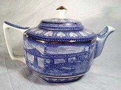 Johnson Bros, Tea Pot Set, Blue And White China, Tea Cozy, Teapots, Tableware, Building Bridges, Kettles