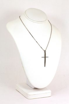 Pave Diamond Cross with Black Rhodium Finish