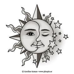 tattoovorlagen sonne, mond  sterne kostenlos gratis tattoo-vorlagen | coloring 5 | tattoo