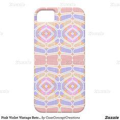 Pink Violet Vintage Retro Nouveau Deco Pattern iPhone SE/5/5S Case