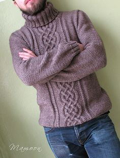 Ideas For Knitting Pullover Men Libraries Aran Knitting Patterns, Cable Knitting, Knit Patterns, Free Knitting, Knitting Sweaters, Sweater Patterns, Knitting Tutorials, Knitting Ideas, Stitch Patterns