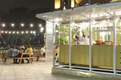 Nicknamed the Green Lantern, this portable bar in Buenos Aires saves the day (and the night).