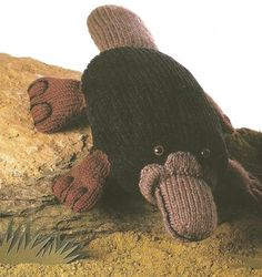 Duck-Billed Platypus Toy Knitting Pattern