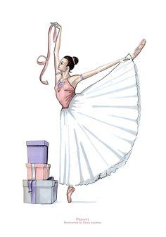 Marker Drawing. Ballerina by Elena Limkina www.limkina.com
