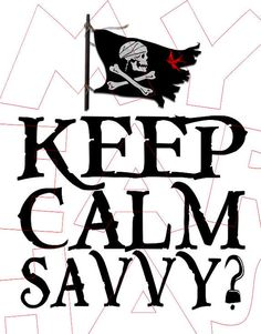 Printable DIY Pirates of the Caribbean Jack Sparrow Keep calm savvy Iron on transfer