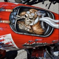 Tank - Best Airbrush Art Images, Videos and Galleries: share, rate thousand of Pictures and discover the latest uploads! - Just Airbrush Blitz Motorcycles, Cool Motorcycles, Custom Paint Motorcycle, Motorcycle Tank, Custom Paint Jobs, Custom Art, Pinstriping, Custom Tanks, Desenho Tattoo