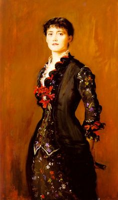 Sir John Everett Millais.  Louise Jopling.  (I want this dress.)
