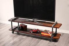 Vintage industriel en fonte Pipe Table meuble TV