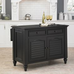 The Home Styles Bermuda Espresso Kitchen Island is a versatile kitchen centerpiece. Constructed of mahogany solids and mahogany and albazia veneers. Kitchen Island With Granite Top, Granite Tops, Kitchen Islands, Black Granite, Kitchen Island Furniture, Kitchen Furniture, Bar Furniture, Black Kitchens, Cool Kitchens