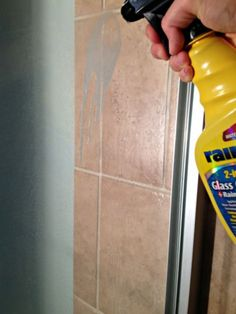 A Surprising Way to Prevent Soap Scum Build-up on Glass Shower Doors