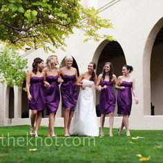 Plum Bridesmaids Dresses!!