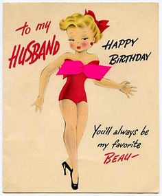 Shop Retro Birthday Card for Husband created by RetroMagicShop.
