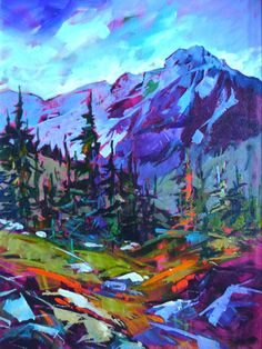 Ideas For Landscape Paintings Acrylic Mountain Mountain Art, Mountain Landscape, Abstract Landscape, Landscape Paintings, Art Paintings, Indian Paintings, Abstract Paintings, Landscape Fabric, Portrait Paintings