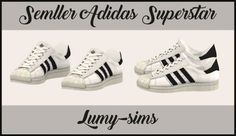 Semllers Superstar sneakers conversion at Lumy Sims