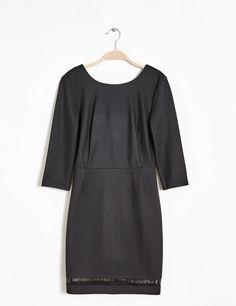 Robe ajustée décolletée dos noir femme • Jennyfer