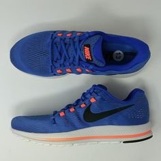 new york 27b12 d6ca1 Nike Air Zoom Vomero 12 Men s Running Shoes 863762-400 Blue Size 13 New