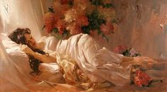Hand-painted Figure Oil Painting - Repose
