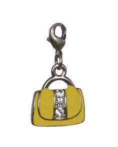 Cute! Charm Clip – P2 – Crystal Purse ~ Yellow #yellow