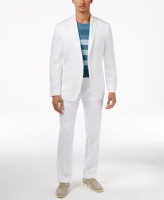 Alfani Slim-Fit Wrinkle Resistant Dress Pants, Only at Macy's - White 34x29