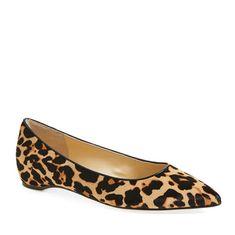 Pointy-Toe Leopard Flats