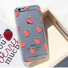 Soft Jelly Clear Design Phone Case - Oh my Strawberry