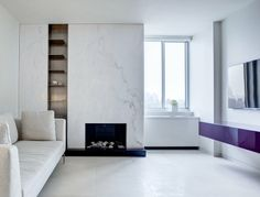 140 Charles Street NYC, New York - actually, it's marble but it still looks good on that fireplace!