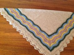 Finished Hansel hap shawl from Gudrun Johnstone's Craftsy class