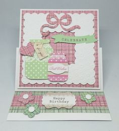 Card made using Mega All White kit. Embossed frame with Spring Time cardstock and elements from Pop Up Silhouette kit