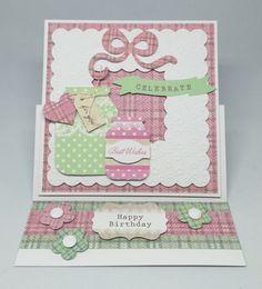 Card made using Mega All White kit. Embossed frame with Spring Time cardstock…
