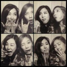 Taeyeon and Tiffany pose comically for some funny selcas | http://www.allkpop.com/article/2014/01/taeyeon-and-tiffany-pose-comically-for-some-funny-selcas