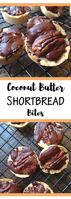 Coconut Butter Shortbread Bites (Paleo & Vegan)