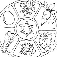Print out this Seder plate for your coloring enjoyment. The foods are arranged as a …