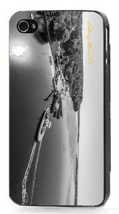 Dering Harbor Co. iPhone 6 Case - Shelter Island North Ferry Crossing in Black and White