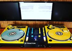 Another amazing set up with the Q.Bert Concorde by NextSoundBrasil #traktor #tecnhics #sl1200 #sl1210m5g #sl1210 #realdjing #clubdjing #technics #concorde #vinyl #dj #djgear #yellow #qbert #nextsoundbrasil #custom #limited #djsetup #scratch #scratching #turntable #turntablism by ortofon_dj http://ift.tt/1HNGVsC