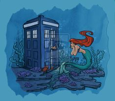 Part of Every World by *khallion on deviantART - I seriously want to see the doctor come out of there in a scuba diving outfit now <3