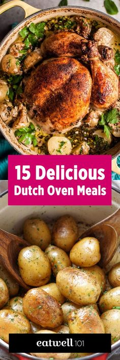 Fill your meal plan for weeks with these easy dutch oven recipes. http://eatwell101.com