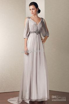 Shop gorgeous evening dresses at Vbridal. Find 2020 latest style evening gowns and discount evening dresses up to off. We provides huge selection of Cheap evening dresses for your choice. Evening Gowns With Sleeves, Chiffon Evening Dresses, Chiffon Gown, V Neck Prom Dresses, Gala Dresses, Bridesmaid Dresses, Bride Dresses, Party Dresses, Dress Prom