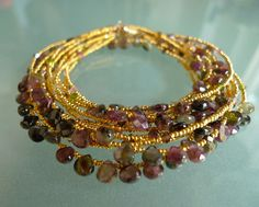 Love it !!!honey-gold  Faceted Tourmaline Briolettes , Swarovski  2,100