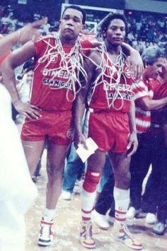 Michael Hackett and Billy Ray Bates of Ginebra San Miguel Billy Ray, Manila, Nba, Basketball, Retro, Sports, Life, Vintage, Geneva
