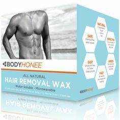 Hair Removal Waxing Kit Men + Women, All Natural | BodyHonee (8.8 Oz): Beauty