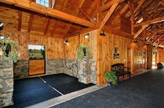 Stalls should be attached to or inside of barn so horse doesn't get dirty on the…