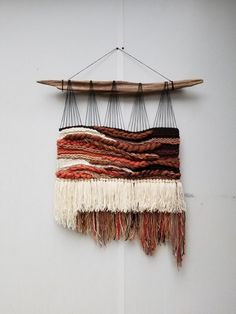 Xl woven wall hanging terracotta home decor wall weaving wall hanging rustic home decor tapestry weaving handwoven wall art bohemian constellation by heather lezla on etsy Weaving Textiles, Weaving Art, Tapestry Weaving, Loom Weaving, Hand Weaving, Tapestry Wall, Weaving Wall Hanging, Crochet Wall Hangings, Diy Hanging
