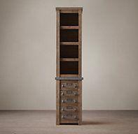 Early 20th C. Mercantile Tall Bath Cabinet