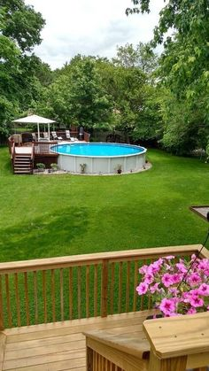 36 Amazing Ground Pool Landscaping That You Should Copy - The purpose of having landscaping for your swimming pool is to enhance the beauty of it. It should feel like a natural environment and not out of plac. Above Ground Swimming Pools, Swimming Pools Backyard, My Pool, In Ground Pools, Above Ground Pool Landscaping, Backyard Pool Landscaping, Landscaping Rocks, Landscaping Plants, Oberirdische Pools